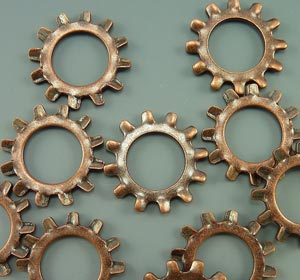 Copper Star Washers
