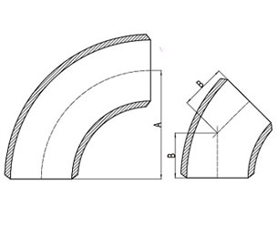 MSS Sp-75 Elbow Dimensions