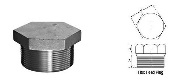 Hex Head Plug Dimensions