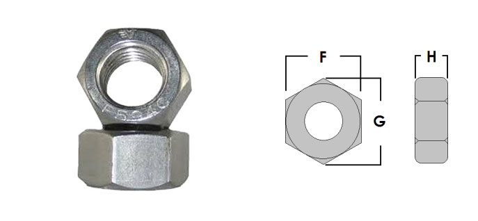 Dimensions of Stainless Steel Heavy Hex Nuts