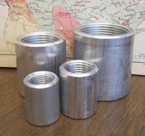 1 inch, ASTM A105, B16.11, 3000 LB, Threaded Full Couplings