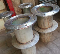 BS4504, DN80, PN16, A182 F316L, Threaded Puddle Flange