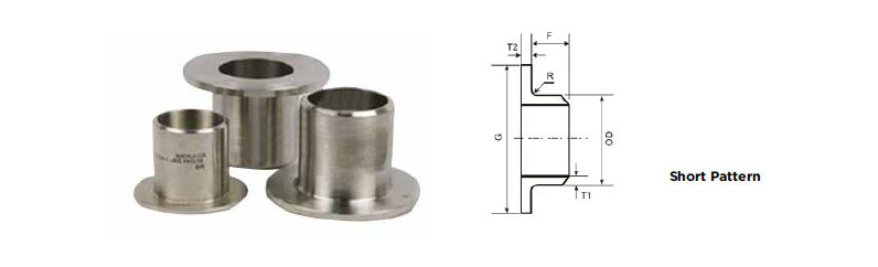 ASME B16.9 Short Pattern Stub End Dimensions