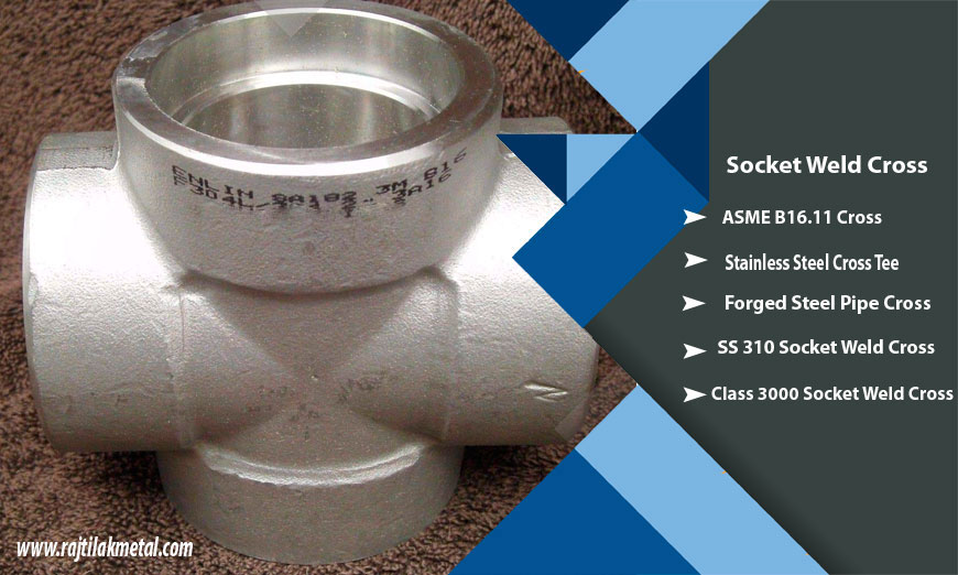 ASME B16.11 Stainless Steel Socket Weld Cross