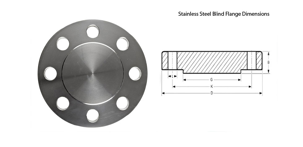 Stainless Steel Blind Flange Dimensions