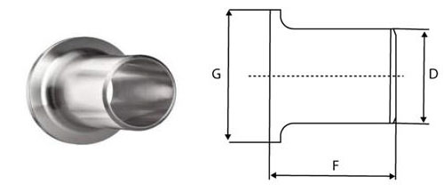 Stainless Steel Lap Joint Stub End Dimensions