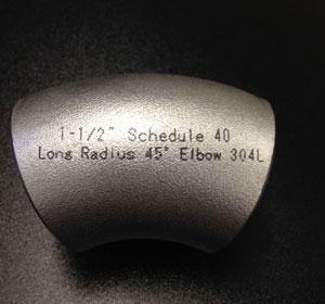 Austenitic Stainless Steel Long Radius Elbow